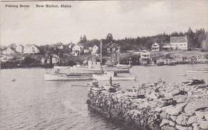 Maine New Harbor Fishing Boats Albertype