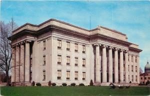 Celina Ohio~Mercer County Court House~1950s Postcard