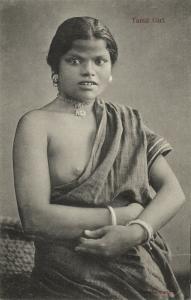 ceylon, Beautiful Native Nude Tamil Woman, Topless (1910s) Postcard