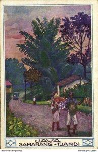 indonesia, JAVA SEMARANG, Tjandi (1910s) Artist Hans Kalmsteiner (1)