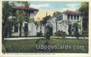 Winter Home of William Jennings Bryan - Miami, Florida FL