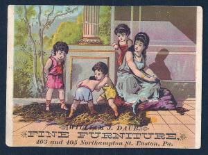 VICTORIAN TRADE CARD WJ Daub Fine Furniture