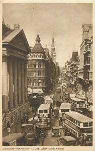 Postcard England London Mansion HOuse and Cheapside