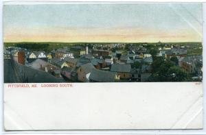 Panorama Pittsfield Maine 1907c postcard