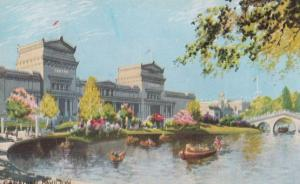 Canadian Pavillion 1924 Empire Exhibition Boats Arriving Antique Postcard