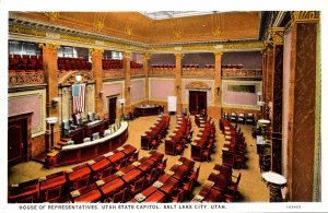 Utah Salt Lake City State Capitol House Of Representatives Curteich