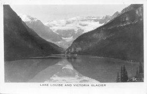 RPPC LAKE LOUISE Victoria Glacier Vintage Canada Postcard ca 1930s