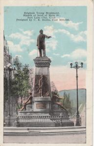 SALT LAKE CITY, Utah, PU-1923; Brigham Young Monument, Stands at head of Main St
