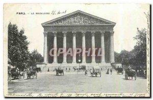Old Postcard Paris Madeleine