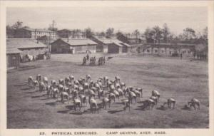 Military Physical Exercises Camp Devens Massachusetts