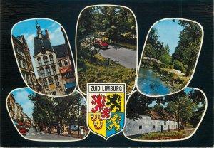 Postcard Netherlands South Limburg various sights emblem crest