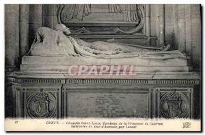 Old Postcard Dreux Chapelle Saint Louis Tomb of the beautiful princess Salerm...