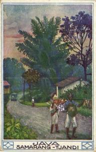 indonesia, JAVA SEMARANG, Tjandi (1910s) Artist Hans Kalmsteiner (2)