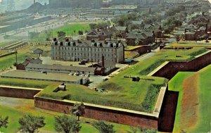 DETROIT MICHIGAN~FORT WAYNE MILITARY MUSEUM~BUILT IN 1840s-AERIAL VIEW POSTCARD