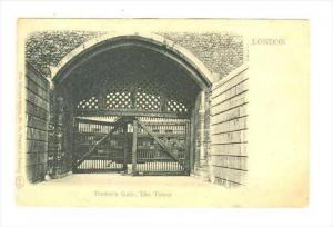 Traitor's Gate, The Tower, London , England , 1890s-1905