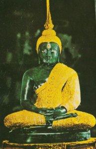 BANGKOK, Thailand, 1940-60s; Emerald Buddha in Rainy Season Robe, Wat Phar Ke...