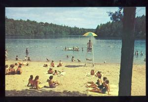 Pickens, South Carolina/SC Postcard, Swimming At Table Rock State Park