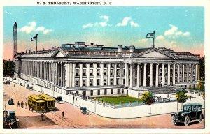 Washington D C Trolleys At United States Treasury