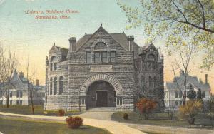 Sandusky Ohio~Civil War Soldiers Home Library~Houses~1911 Postcard