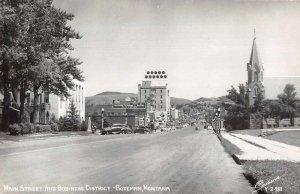 Bozeman Montana Main Street Real Photo Vintage Postcard AA11676