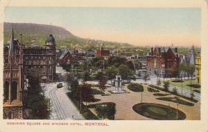 Aerial view,  Dominion Square and Windsor Hotel,   Montreal,  Quebec,  Canada...