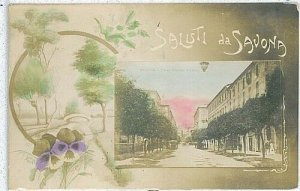 CARTOLINA d'Epoca: SAVONA Città - SALUTI