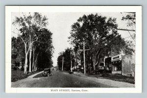 Bantam CT-Connecticut, Main Street, Period Cars, Vintage Postcard