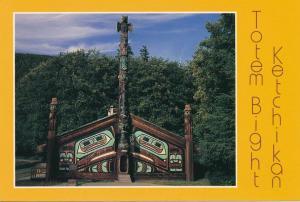 Ketchikan AK, Alaska - Totem Bight - Totem Pole - Roadside