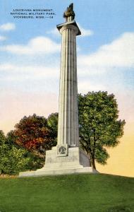 MS - Vicksburg. Vicksburg National Military Park, Louisiana Monument
