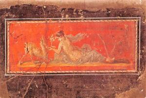 - Fresco with Woman & Deer