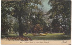 France, VICHY, Dans les Grands Parcs, 1932 used Postcard