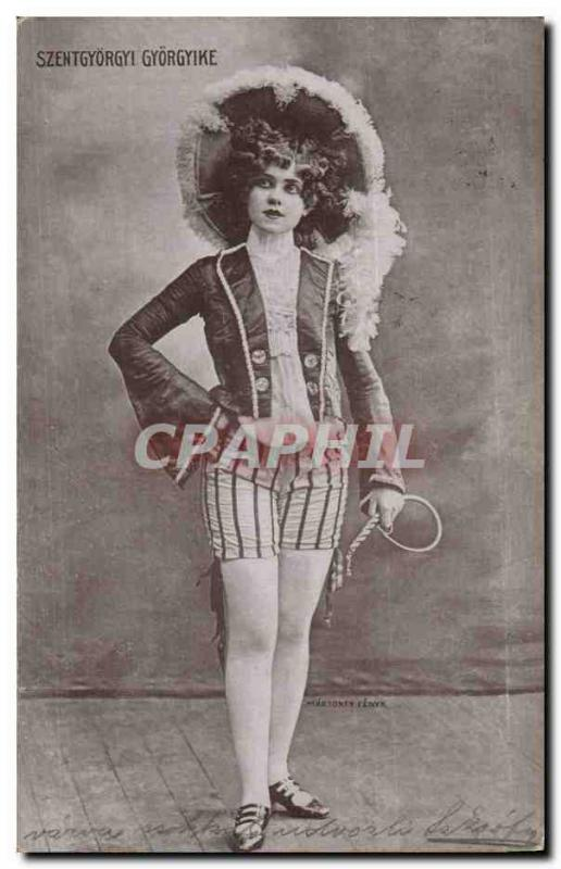 Fantaisie - Femme - Woman in amazing costume (carte hongroise Hungary Hongrie)