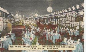 NEW YORK CITY, New York, 1930-40s; German American Joe's King's Rathskeller