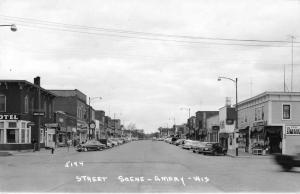 Amery Wisconsin Business District Street Scene Real Photo Postcard J76968