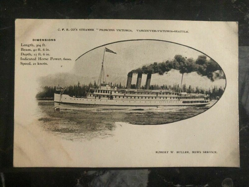 Mint Canada Picture Postcard Ship CPR Steamer Princess Victoria