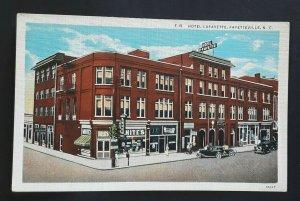 Mint Vintage Fayetteville North Carolina Hotel Lafayette 1920s Postcard