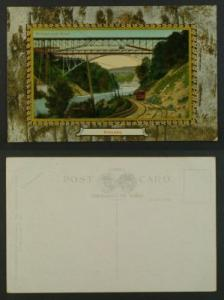 Niagara Bridges river gorge railway frame PC c1910