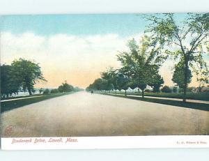 Pre-1907 STREET SCENE Lowell Massachusetts MA W2391