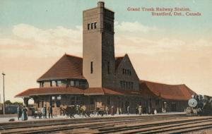 BRANTFORD , Ontario , Canada , 1900-10s ; Grand Trunk Railway Station