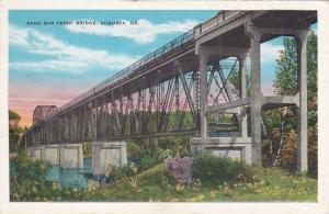AUGUSTA, Georgia , 1910s ; Sand Bar Ferry Bridge
