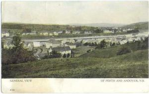 View of Perth and Andover, New Brunswick, Canada ???? Divided Back