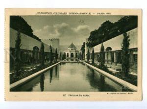 172870 FRANCE PARIS EXPOSITION 1931 MAROC pavillon RPPC
