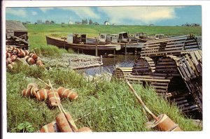Lobster Traps, Boats and Buoys,Yarmouth, Nova Scotia, Canada,