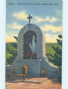 Linen MONUMENT Ashland - Near Shamokin & Pottsville & Hazleton PA AE7613@