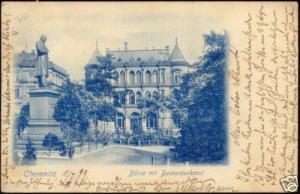 germany, CHEMNITZ, Börse, Stock Exchange (1899) Stamp