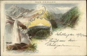 New Zealand Waikite Geyser c1900 Used Postcard