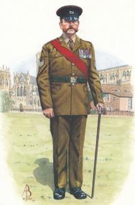 Senior Officer Prince Of Wales Yorkshire Regiment Uniform Postcard