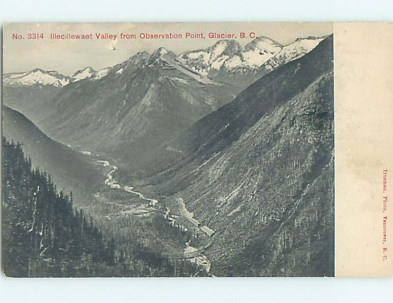 Unused Divided-Back NATURE VIEW SCENE Illecillewaet - Golden - Revelstoke o0765