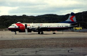 Canadian Air LInes International Lockheed L-188 C Electra At Frobisher Bay Ca...