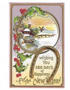 Wishing You 366 ??  Days of Happiness for the New Year c1910